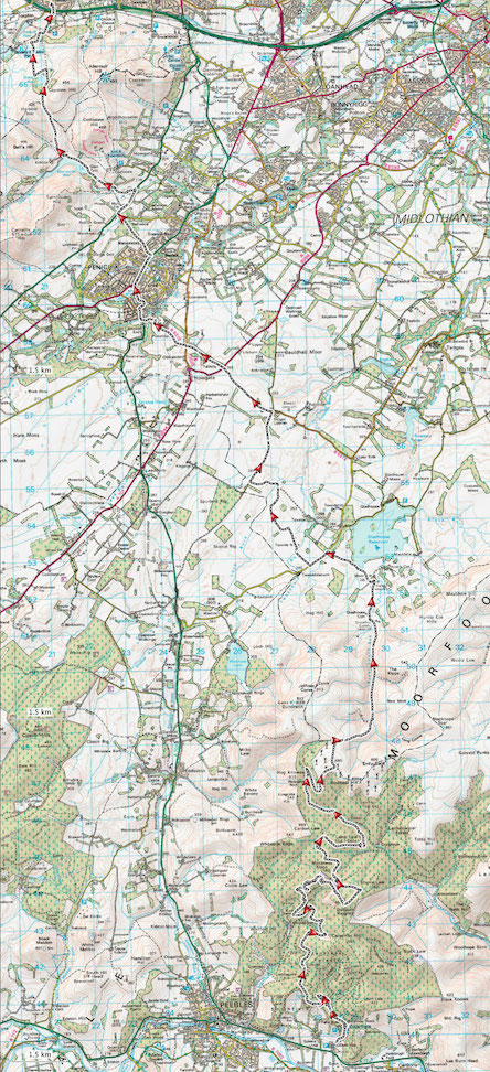Map - Glentress to Bonaly